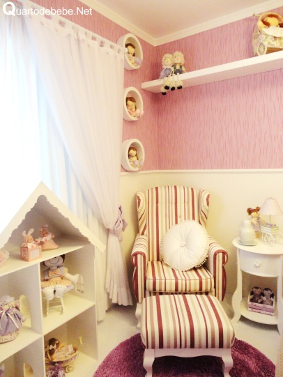 quarto bebe feminino rosa branco