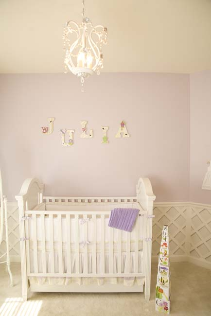 quarto bebe decorado lilas julia