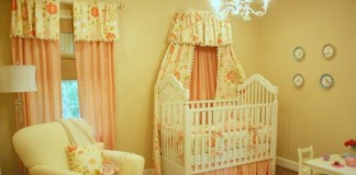 quarto bebe decorado coral