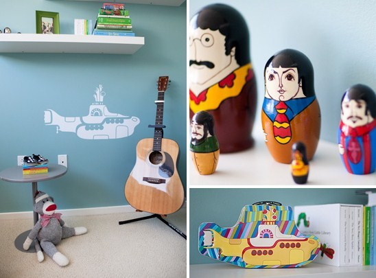 quarto bebe musica beatles