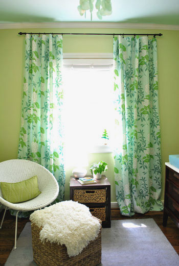 quarto bebe decorado verde estampas