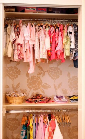 papel parede dentro do closet